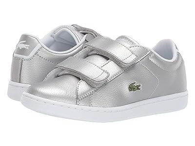 Lacoste Kids Carnaby Evo Strap 319 2 (Little Kid) (Silver/White) Kid
