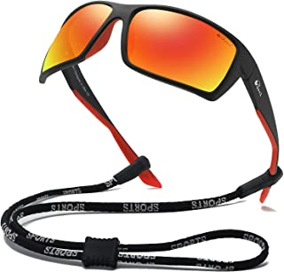 Sports Sunglasses Polarized Lens/TR 90 Frame with Spring...