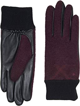 UGG - Fabric Smart Gloves with Knit Trim