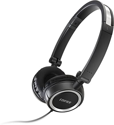 Edifier H650 Headphones - Hi-Fi On-Ear Foldable Noise-Isolating Stereo Headphone, Ultralight and Tri-fold Portable - Black