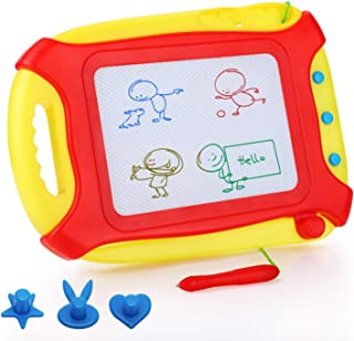 pidien Magnetic Drawing Board Travel Size for Toddlers Kids Toys Colorful Drawing Tablet Erasable Sketching Pad with 3 Stampers