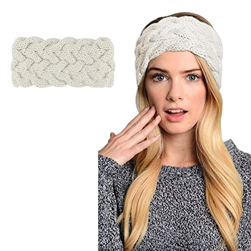 546261da4ed Womens Winter Knitted Headband - Crochet Twist Hair Band Turban Headwrap  Hat Cap Einter headband Ear