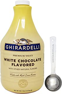Ghirardelli - White Chocolate Flavored Sauce, 87.3 Ounce Bottle - with Limited Edition Measuring Spoon