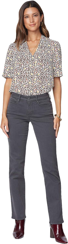 NYDJ Petite Petite Marilyn Straight Jeans in Vintage Pewter