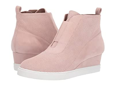 LINEA Paolo Anna Wedge Sneaker (Blush Perf Suede) Women