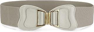uxcell Interlocking Buckle Elastic Cinch Blouse Decor Belt for Women