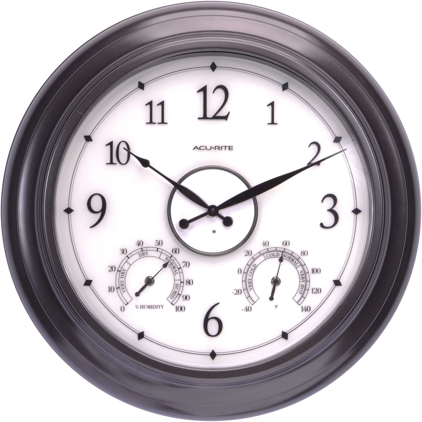 AcuRite 75133M Brand new LED Illuminated Outdoor Recommended Clock with Temperature an