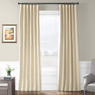 HPD HALF PRICE DRAPES BOCH-PL1604-84 Bellino Blackout Room Darkening Curtain, 50 X 84, Candlelight