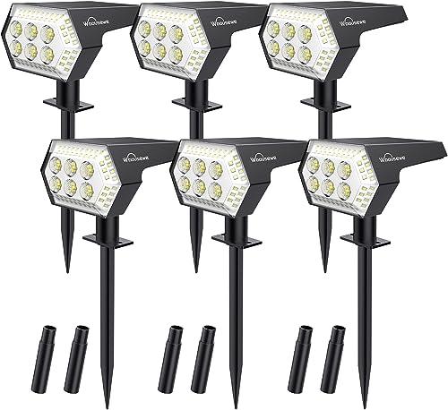 Spot Solaire Extérieur, Whousewe Lampes Solaires Etanche 108 LED IP65 Projecteur Solaire Réglable Eclairage Extérieur...