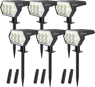 Spot Solaire Extérieur, Whousewe Lampes Solaires Etanche 108 LED IP65 Projecteur Solaire Réglable Eclairage Extérieur Sola...