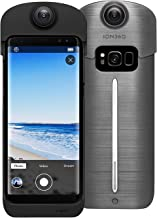 ION360 U - 4K Ultra HD 360-Degree Camera and Smartphone Charging Battery Case for Samsung Galaxy S8 Plus Charcoal Grey