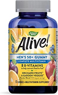 Nature's Way Alive Men's 50+ Gummy Vitamin, 60 Gummies