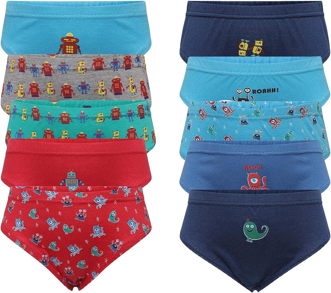 Hari Deals Boys Children 100% Cotton Briefs Underwear Slips Pants 10 Pack:  Amazon.co.uk: Clothing