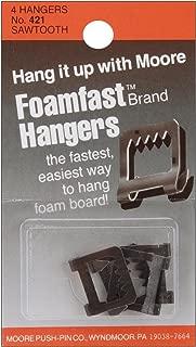 Moore Push Pin Foamfast Hangers, 4/pkg