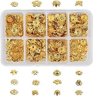30pcs 10mm Round Flower Bead Caps Raw Brass Findings for Jewlery Making /& Repair ca013
