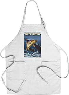 Astoria, Oregon - Cutthroat Trout Cross-Section (Cotton/Polyester Chef's Apron)