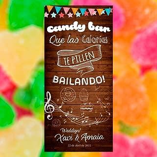 Decoración Boda | Cartel Boda Candy Bar (Cartón) | 70cm x 150cm