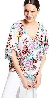 e9c6fc5c0f4c3d Per Una Floral Print Crepe V-Neck Blouse RRP £27.50 Marks & Spencer
