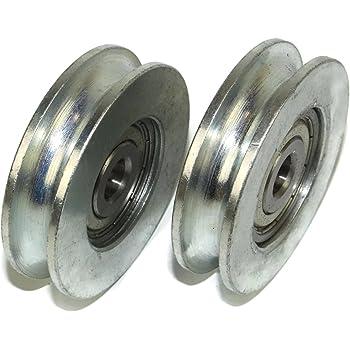 Lot de 2/roues de portail coulissant 22/mm rond Groove 79/mm de diam/ètre fabriqu/é en Union Europ/éenne R79/–22/–12