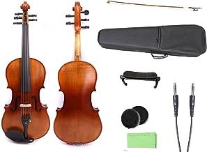 Yinfente 4/4 violin 5 string Electric violin Full size Maple Spruce wood Big jack Ebony wood Violin parts Sweet Sound