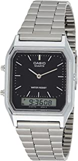 Casio Unisex-Adult Quartz Watch, Analog-Digital Display and Stainless Steel Strap