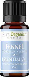 Pure Organic Ingredients Fennel Essential Oil (15 ml), Convenient Dropper Cap Bottle, Promotes Healthy Digestion, Metabolism, Liver Function, Circulation
