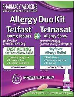 Telfast Allergy Duo Kit Telnasal Allergy Spray & 180mg 30 Tablets