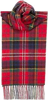 MacPherson Red Modern Tartan Wool Scarf Made in Scotland