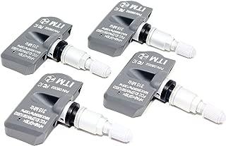 ITM Set of 4 08002M 315mhz TPMS Tire Pressure Sensors for 2005-2014 Toyota Tacoma SR TRD Sport Off-Road Pro SR5 Limited w/Silver Aluminum Valve Stems