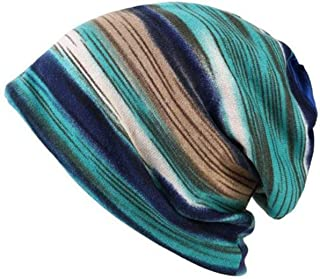 ACVIP Women's Streamed Slouchy Thermal Skull Beanie Cap Headwear