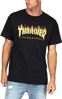 Flame T-Shirt Skate Magazine Short Sleeve Shirt for Mens Womens