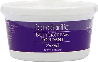 Fondarific Buttercream Fondant, Purple, 8 Ounce
