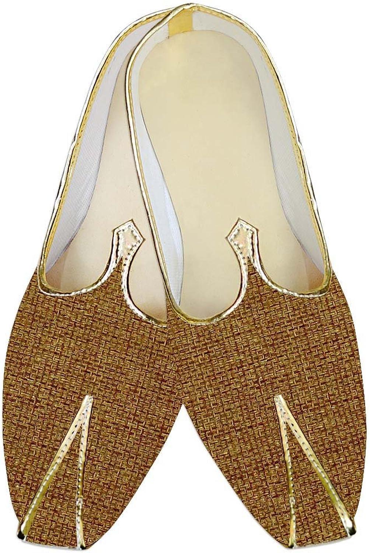 INMONARCH Mens Yellow Jute shoes Wedding Groom MJ013928