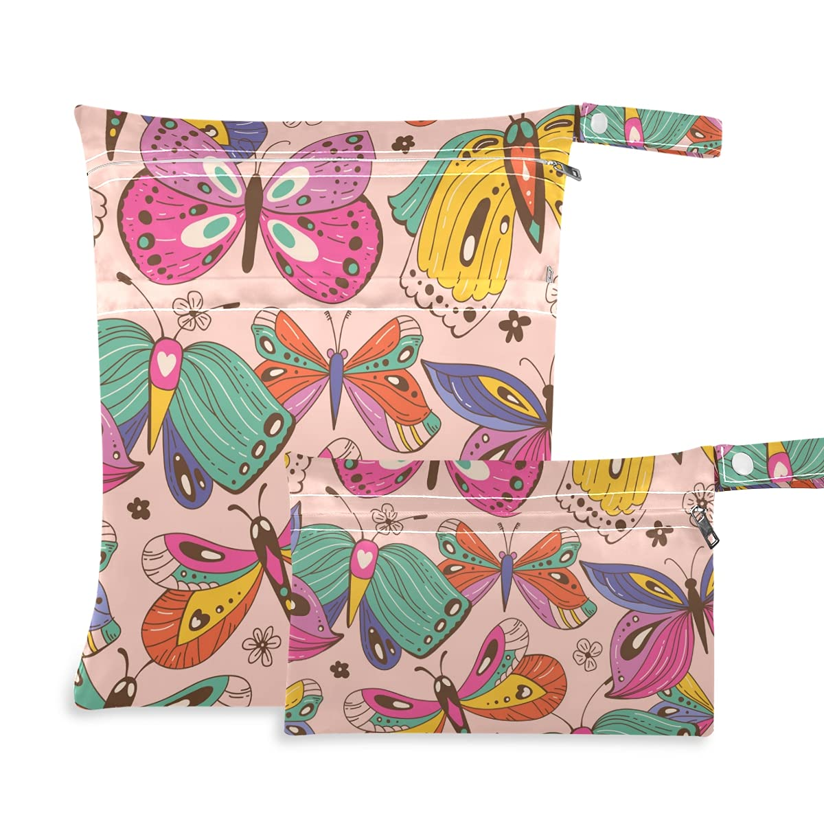 Colorful Butterfly Directly managed store Wet Dry Bag Sales results No. 1 Reusable for Swims Diaper