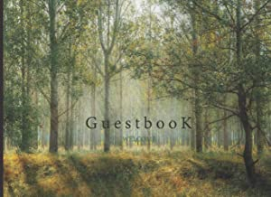 Guest book: Green Forest Nature Cover guest book for guest room 8.5x6 guest register book for visitor's share their memori...
