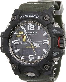 ساعة يد جي شوك بعرض انالوج للرجال بمينا أسود وسوار راتنج من كاسيو - جي دبليو جي، طراز 1000-1A3DR