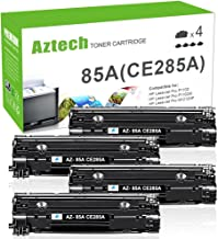 AZTECH Compatible Toner Cartridge Replaces for CE285A CE285 (Black,4-Packs)
