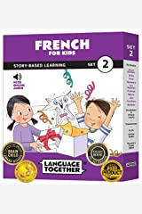 French for Kids Set 2: 10 Beginning French Reader Books with 100 More First Words and Online Audio by Language Together Paperback