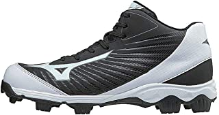 Mizuno Mens 9-Spike Advanced Franchise 9 Molded Baseball Cleat - Mid Black Size: