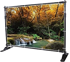 WinSpin 10 Ft Adjustable Background Banner Stand Backdrop Exhibitor Expanding Display