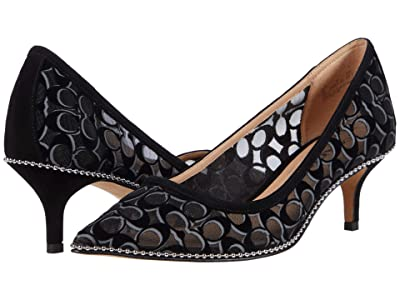 COACH Jackie Mesh Pump (Black) Women