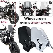 Pare-brise ajustable universel for moto pare-brise anti-vent for Kawasaki Honda KTM d/éflecteur r/églable universel for presque tout type de v/élo Pare-brise moto