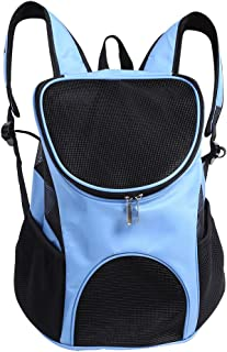 Portable Pet Shoulder Bag Breathable Pet Backpack Outdoor Travel Carrier for Pet Dog Cat Rabbit(Light Blue)