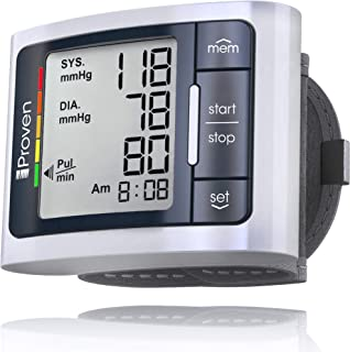 iProven Blood Pressure Cuff, Automatic Wrist Blood Pressure Monitor with Irregular Heartbeat Detection, 1 Size bp Cuff fits All, Compact and Easy to Carry Digital Home Blood Pressure Monitor, BPM-337