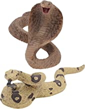 TOYMYTOY 2pcs Realistic Rubber Snakes Fake Snake Figurines Animal Toy Prank Props Party Funny Kids Trick Toy