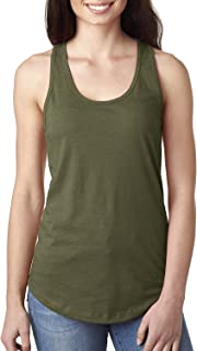 1533 Next Level The Ideal Racerback Tank - Military Green N1533 L