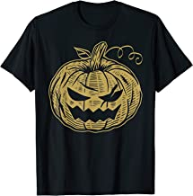 Vintage Scary Pumpkin Design For Halloween & Costume Party T-Shirt
