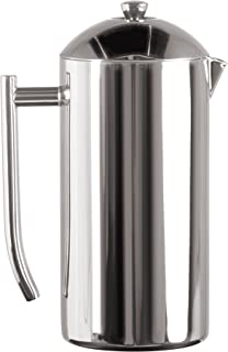 Frieling USA Double Wall Stainless Steel French Press Coffee Maker with Zero Sediment..