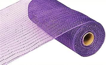 10 inch x 30 feet Deco Poly Mesh Ribbon - Value Mesh (Purple, Purple Foil)