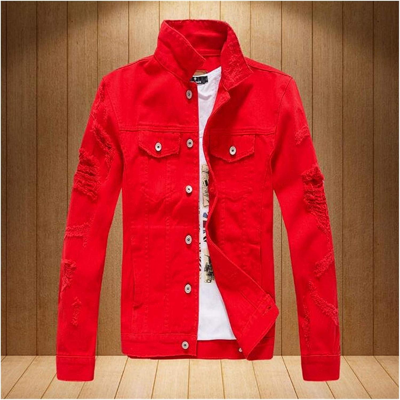safety Jacket Men SALENEW very popular! Denim Coat Spring Jean Collar Stand Autumn Boy